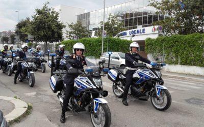 Mannarini, la consegna delle 10 Honda NC750X per la polizia locale di Bari